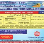 Bandra Terminus to Indore special train