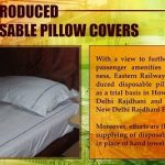 Disposable Pillow Covers in Indian Railway