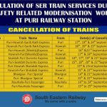 Cancellation of Train At Puri Railway Station