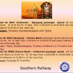 Tirupati Brahmotsavam Special Trains 2018